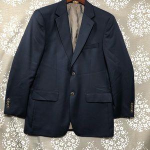Joseph feiss gold blazer jacket twobutton navy 39R